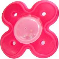 Golyócskás fogzáskönnyítő játszócumi, 3H+, Primii Pasi, R0220 piros