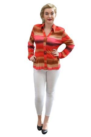 Bluza cazual, tip camasa, masura mare,D&J Exclusive, Rosu