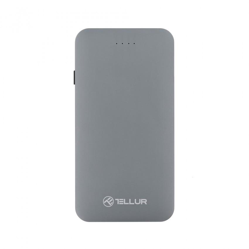 Fotografie Acumulator extern Tellur Quick Charge 3.0, 5000 mAh, Cablu 3 in 1 inclus, Gri