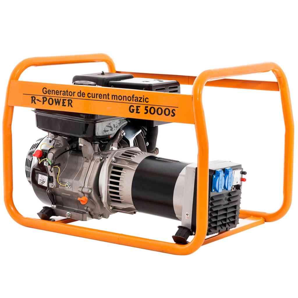 Fotografie Generator curent electric Ruris R-Power GE 5000, 5000 W , 13 CP, 4 timpi, benzina, 4.5 h autonomie maxima