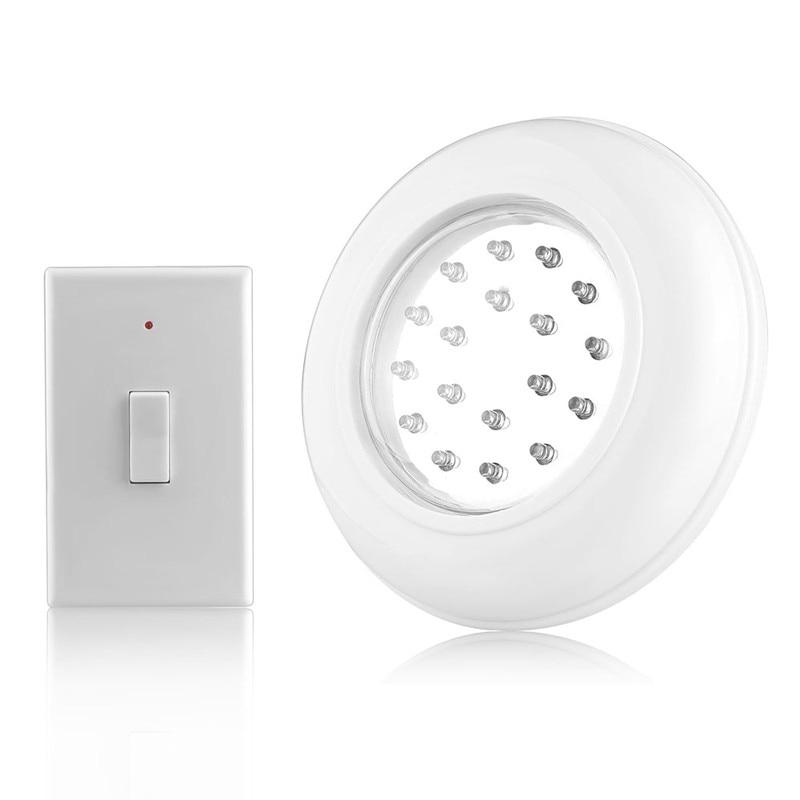 Bezprzewodowa lampa 18 LED plafon z pilotem, włącznikiem na baterie.