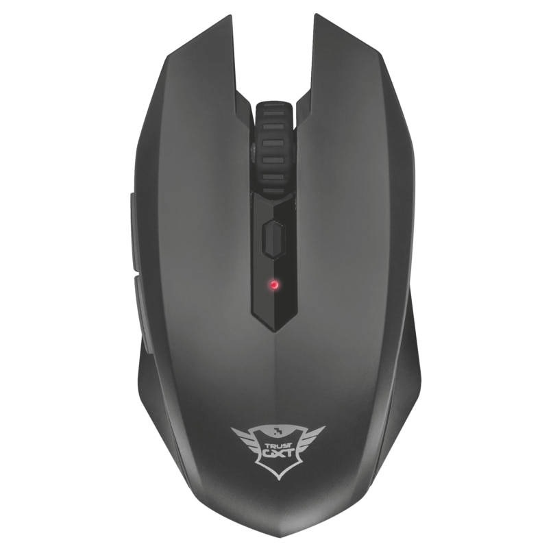 Fotografie Mouse Gaming Trust GXT 115, Wireless, Negru
