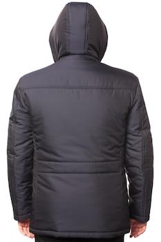 Vízhatlan, vastag, sötétkék színű férfi kabát