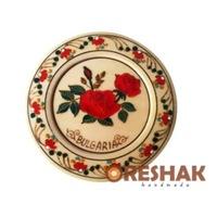 Сувенирна Чиния Oreshak Рози, липа, 12x12
