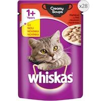 Мокра храна за котки Whiskas, Creamy Soup Телешко, Плик, 28 бр x 85 гр