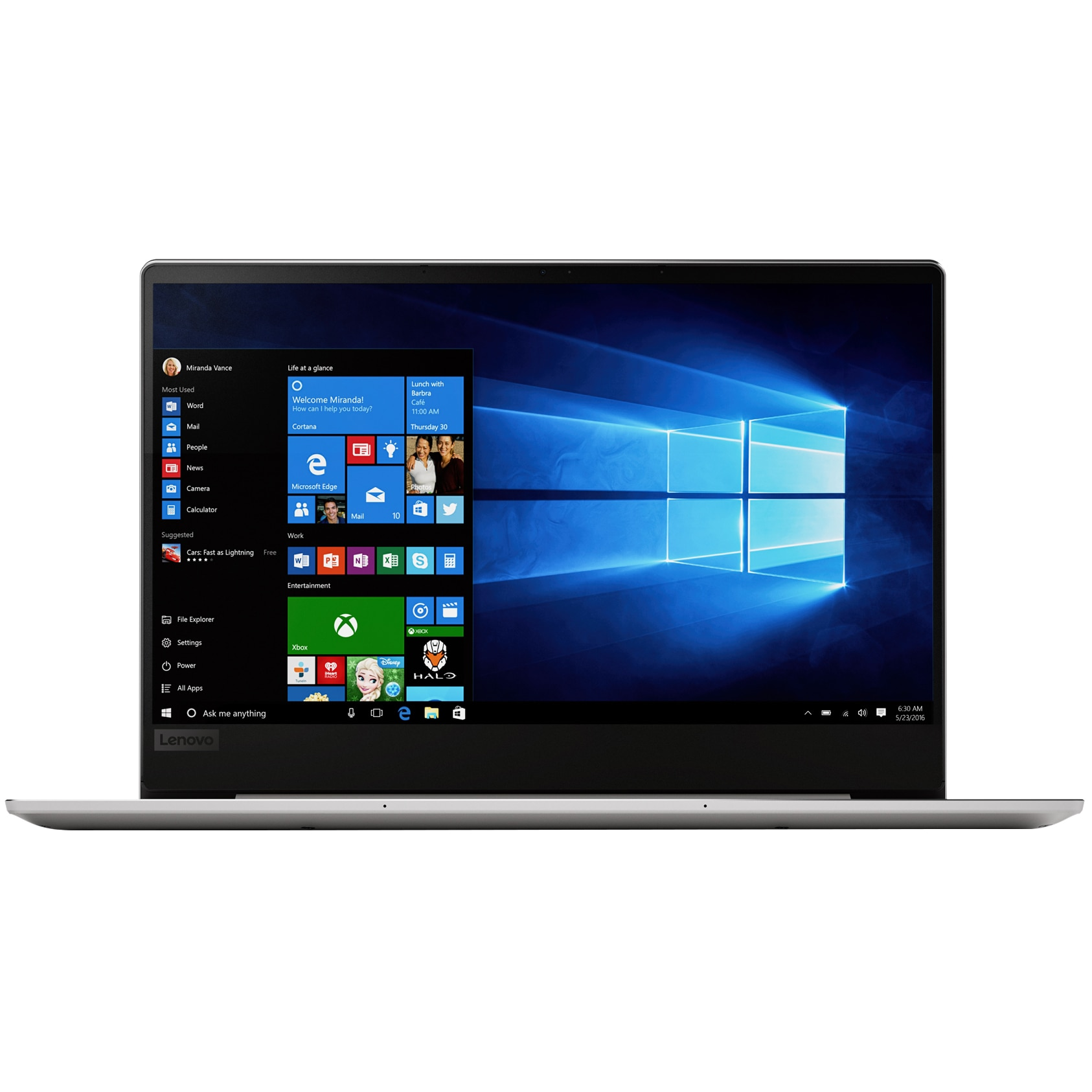 "Fotografie Laptop ultraportabil Lenovo IdeaPad 720S-13ARR cu procesor AMD Ryzen™ 7 2700U pana la 3.80 GHz, 13.3"", Full HD, IPS, 8GB, 256GB SSD, Radeon™ RX Vega 10 Graphics, Microsoft Windows 10, Platinum"
