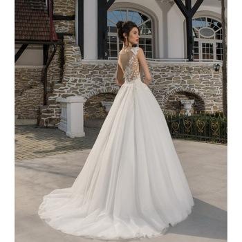 Esküvői ruha, Andree, Színe elefántcsont , Tüll, Hímzett, Méret 38 EU