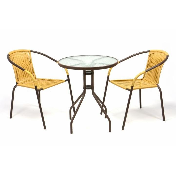 kerti garnitúra 60x60 összecsukhaó asztal két szék
