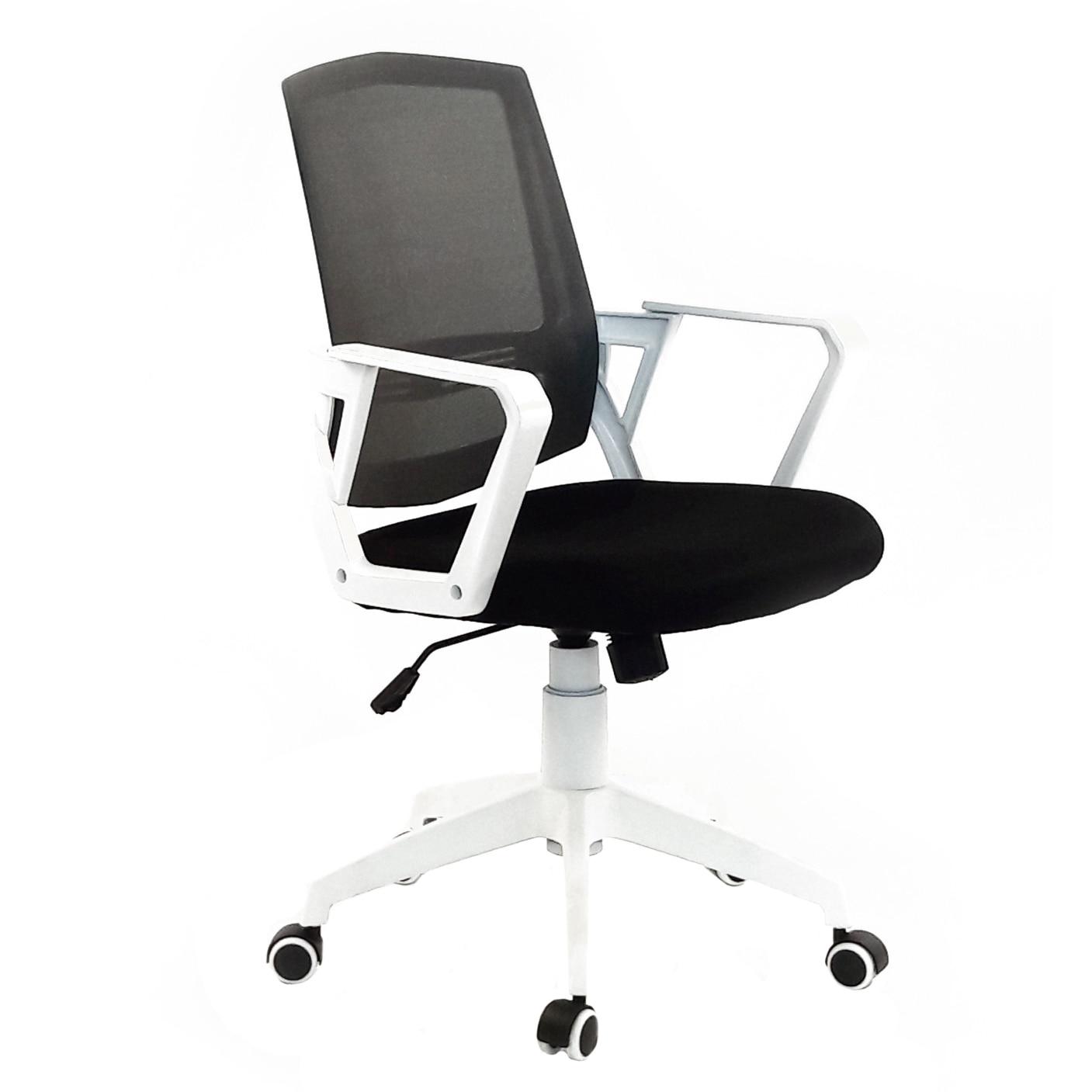 Fotografie Scaun de birou ergonomic Antares Blanca, mesh, Negru/Alb