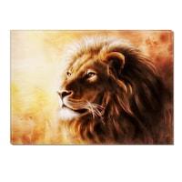 Декоративно пано DualView Startonight, Лъв, Светещо в тъмното, 70 x 100 см