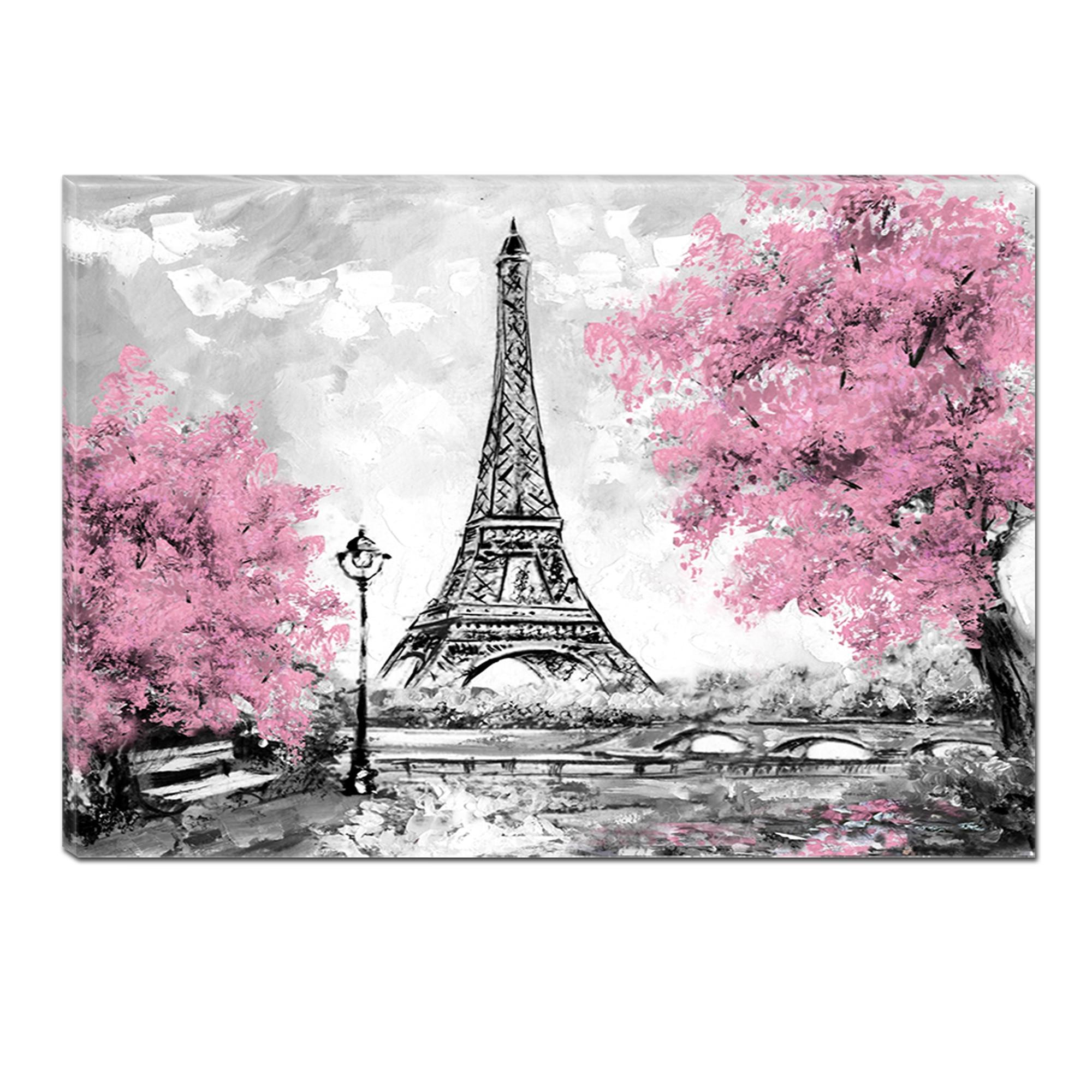 Fotografie Tablou DualView Startonight Parisul Roz, Abstract, Luminos in intuneric, 70 x 100 cm