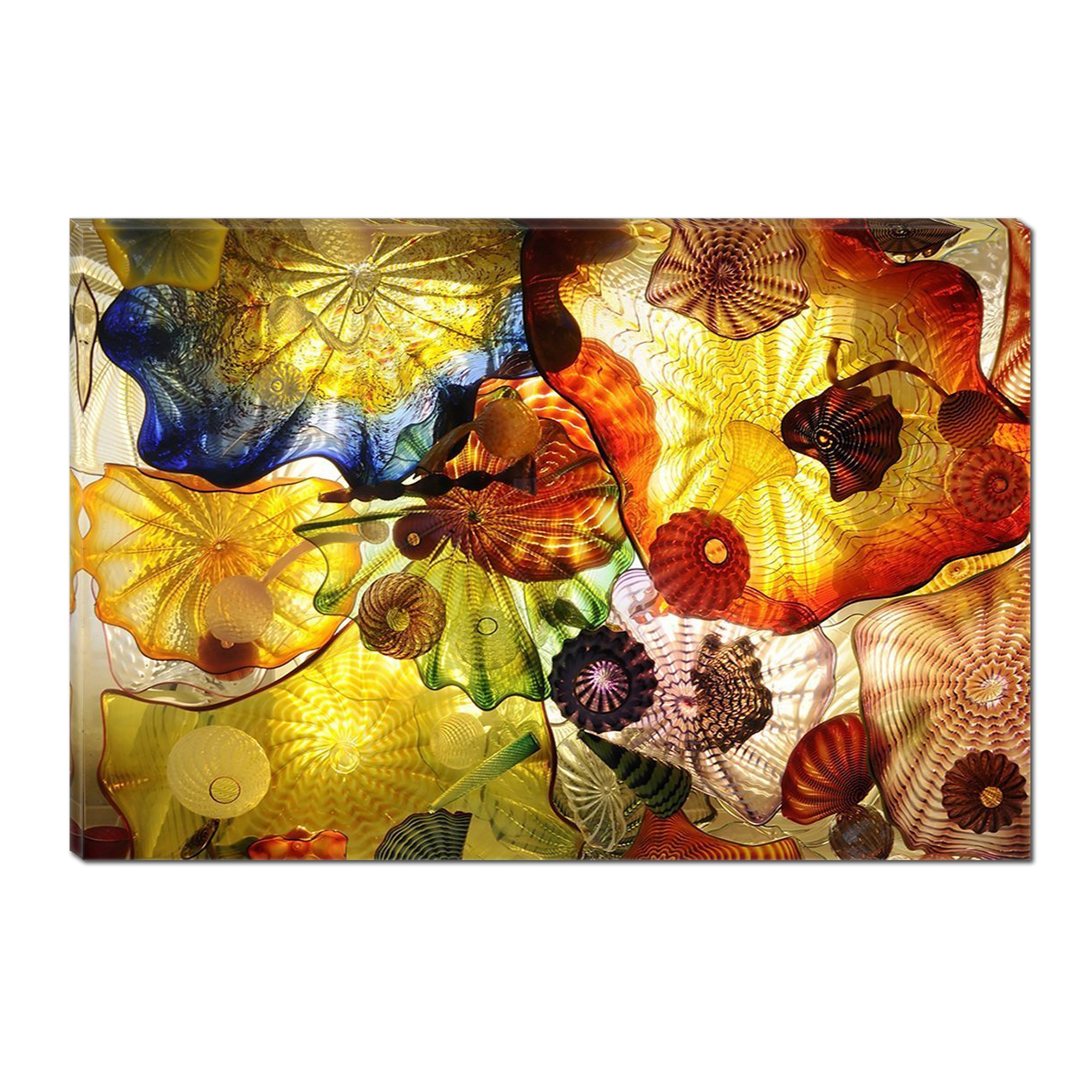 Fotografie Tablou DualView Startonight Abstract Rosu, Luminos in intuneric, 70 x 100 cm