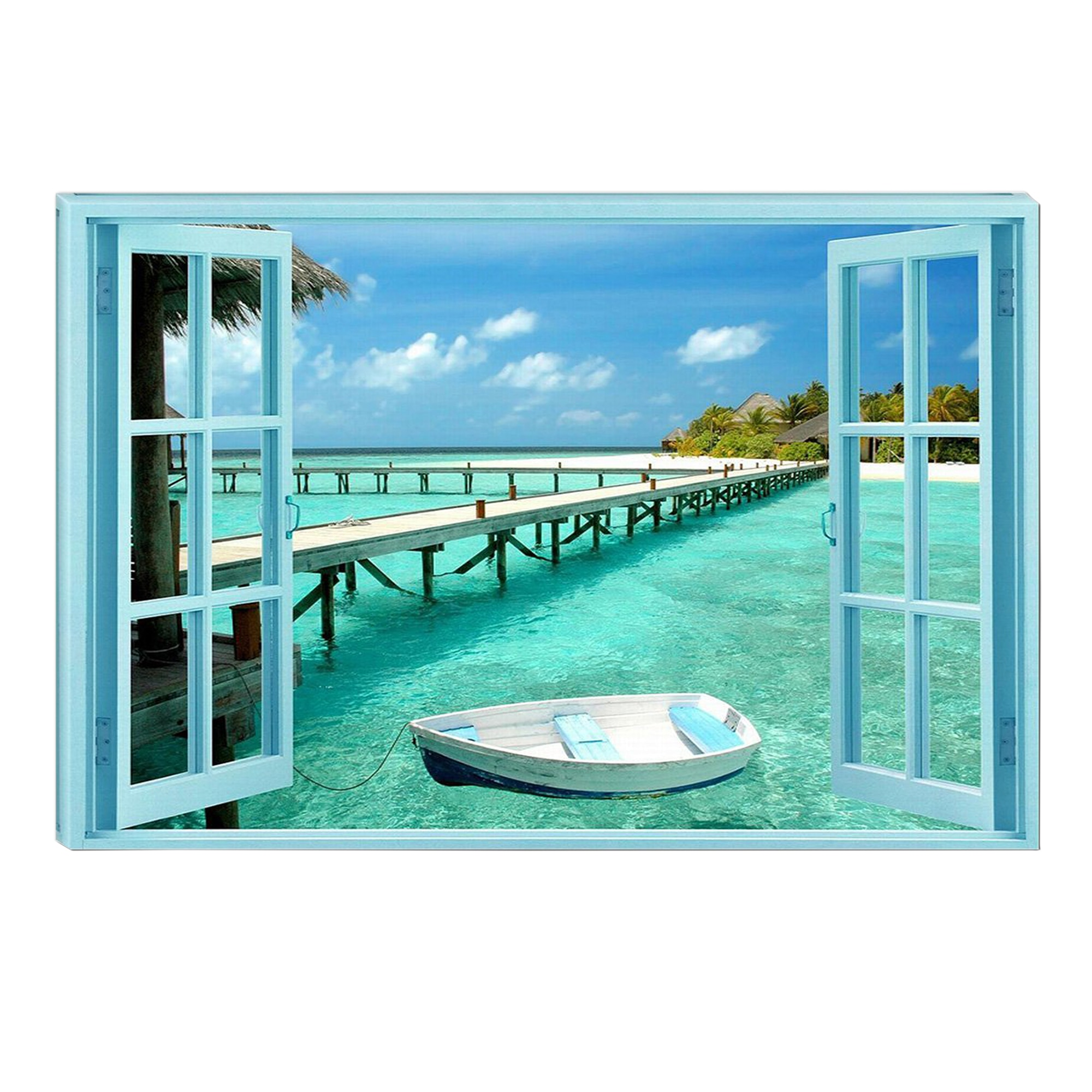 Fotografie Tablou DualView Startonight Raiul pe Pamant, Plaja, Luminos in intuneric, 70 x 100 cm