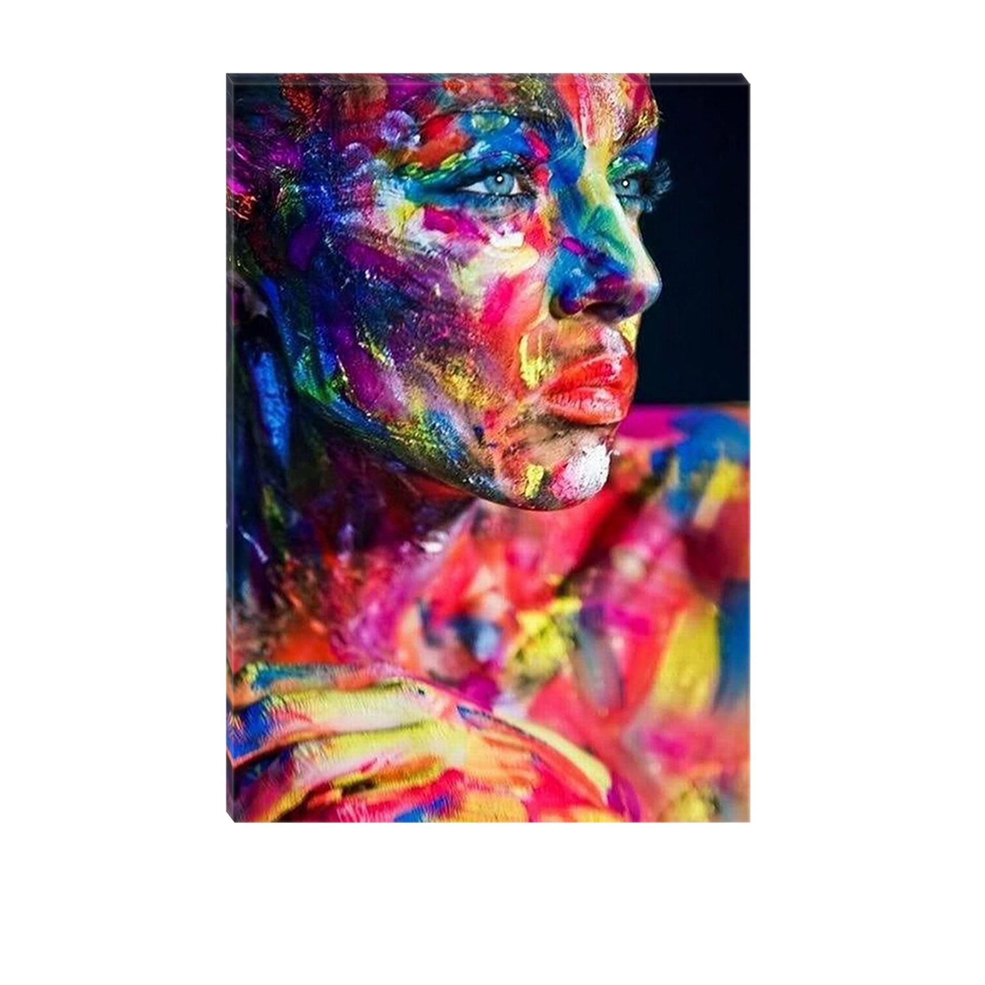 Fotografie Tablou DualView Startonight Femeie Pictata, Luminos in intuneric, 70 x 100 cm