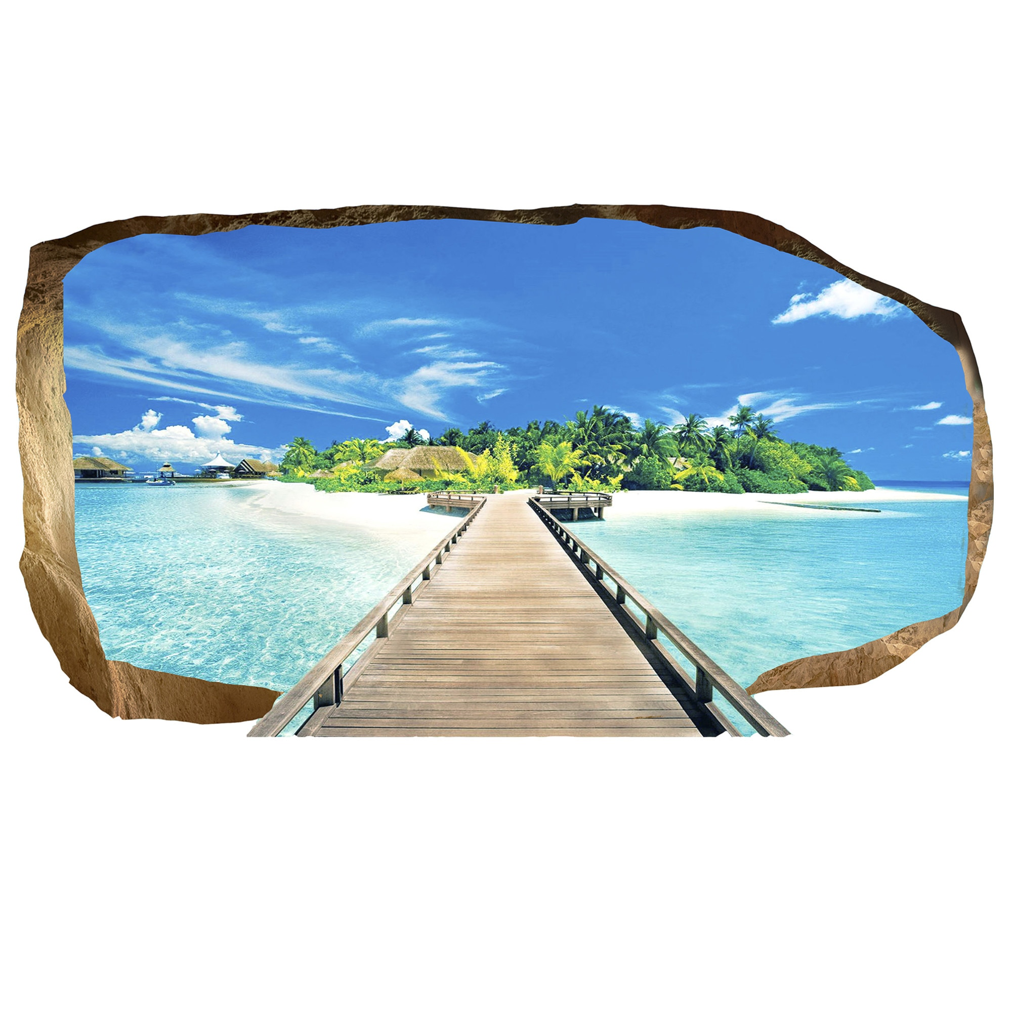 Fotografie Fototapet 3D Startonight Pod spre Paradis, Luminos in intuneric, 1.20 x 2.20 m
