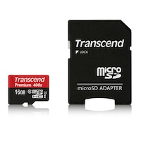 Карта памет Transcend 16GB microSDHC Class10 + Адаптер