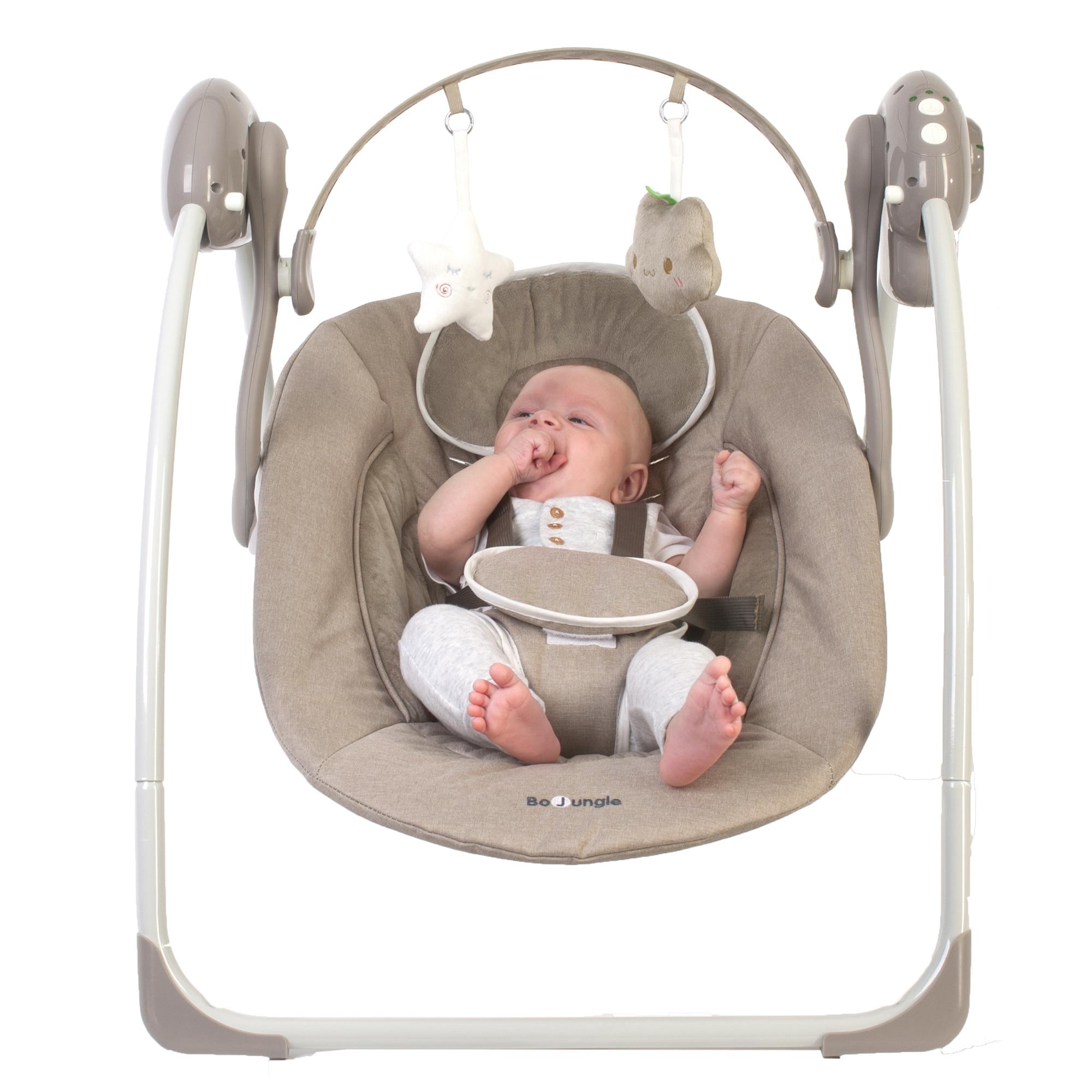 Fotografie Leagan portabil BO Jungle pentru bebelusi cu arcada jucarii, Bej