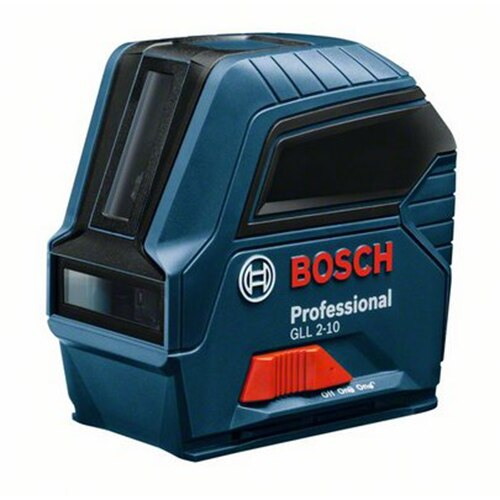 Fotografie Nivela laser cu linii Bosch Professional GLL 2-10, 10 m, ± 0.3 mm/m precizie, 650 nm dioda laser, IP 54, ± 4° domeniu de autonivelare