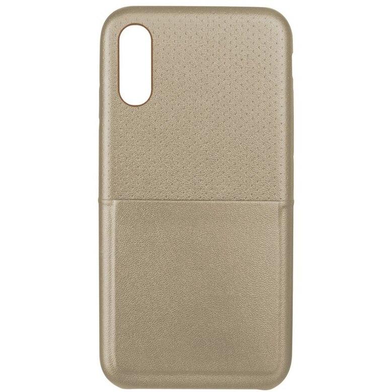 Fotografie Husa de protectie Ksix Dots pentru Apple iPhone X, Gold