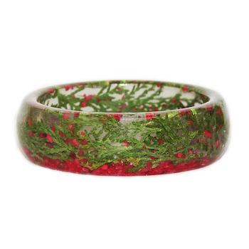 Дамска гривна Peterini, Цветя и Смола, Зелен/Червен, Код GR105