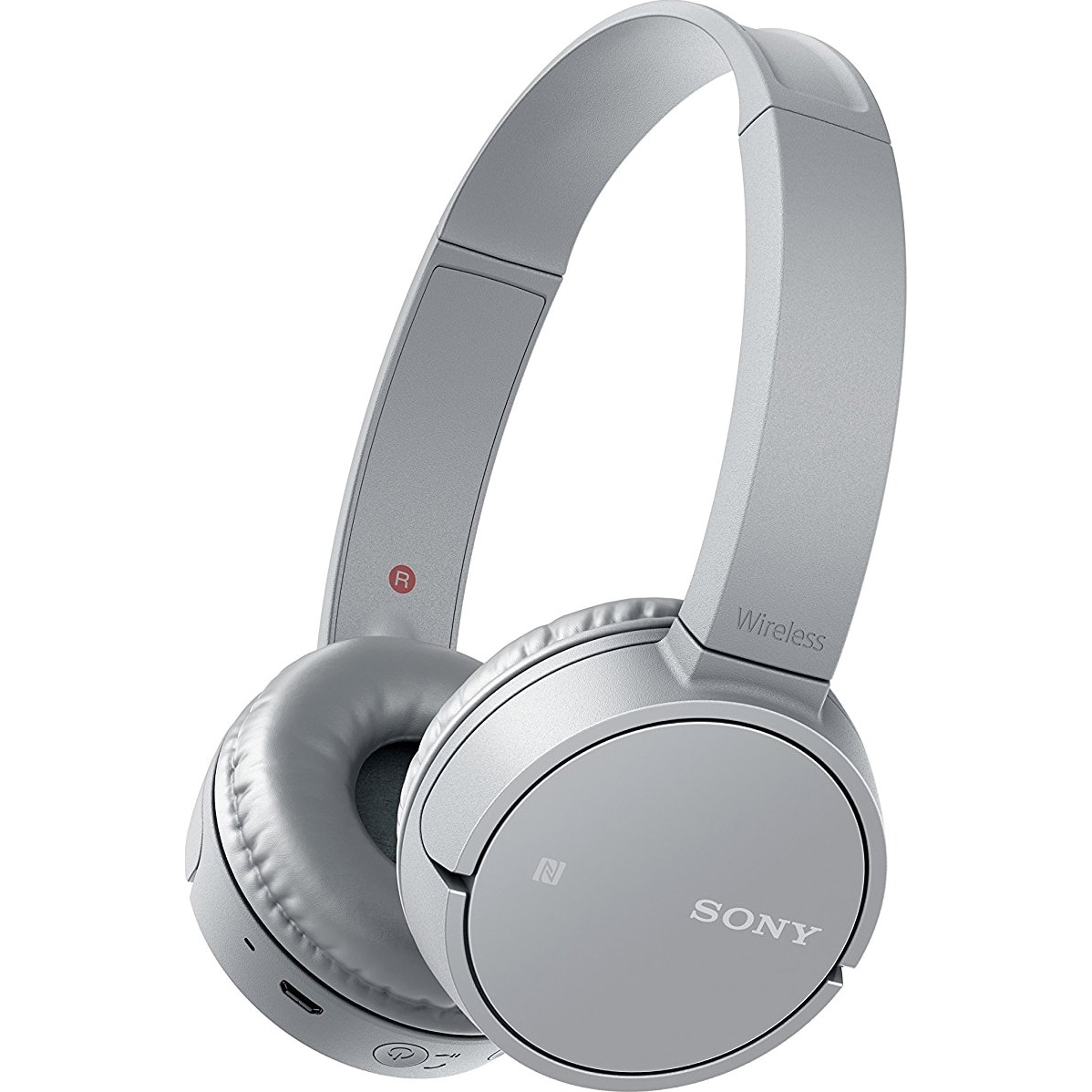 Fotografie Casti audio Sony WH-CH500H, Wireless, Bluetooth, NFC, Gri