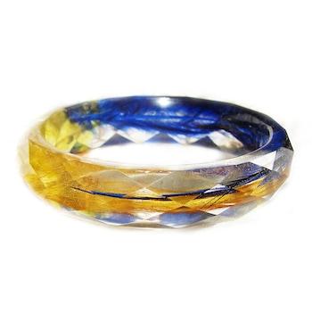 Дамска гривна Peterini, Цветя и смола, син/жълт, Kод GR560