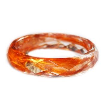 Дамска гривна Peterini, Цветя и Смола, оранжев, Kод GR565