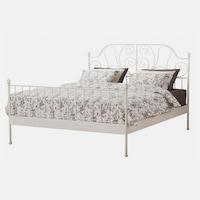 Behemoth Fehér fém ágykeret ágyráccsal 160x200 cm