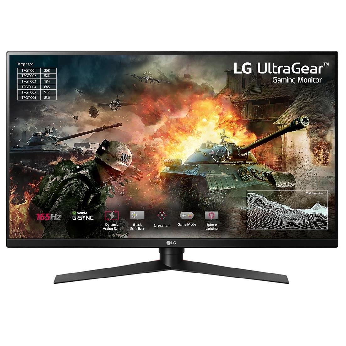 "Fotografie Monitor gaming LED VA LG 31.5"", WQHD, 144Hz, G-Sync, Display Port, Negru, 32GK850G"