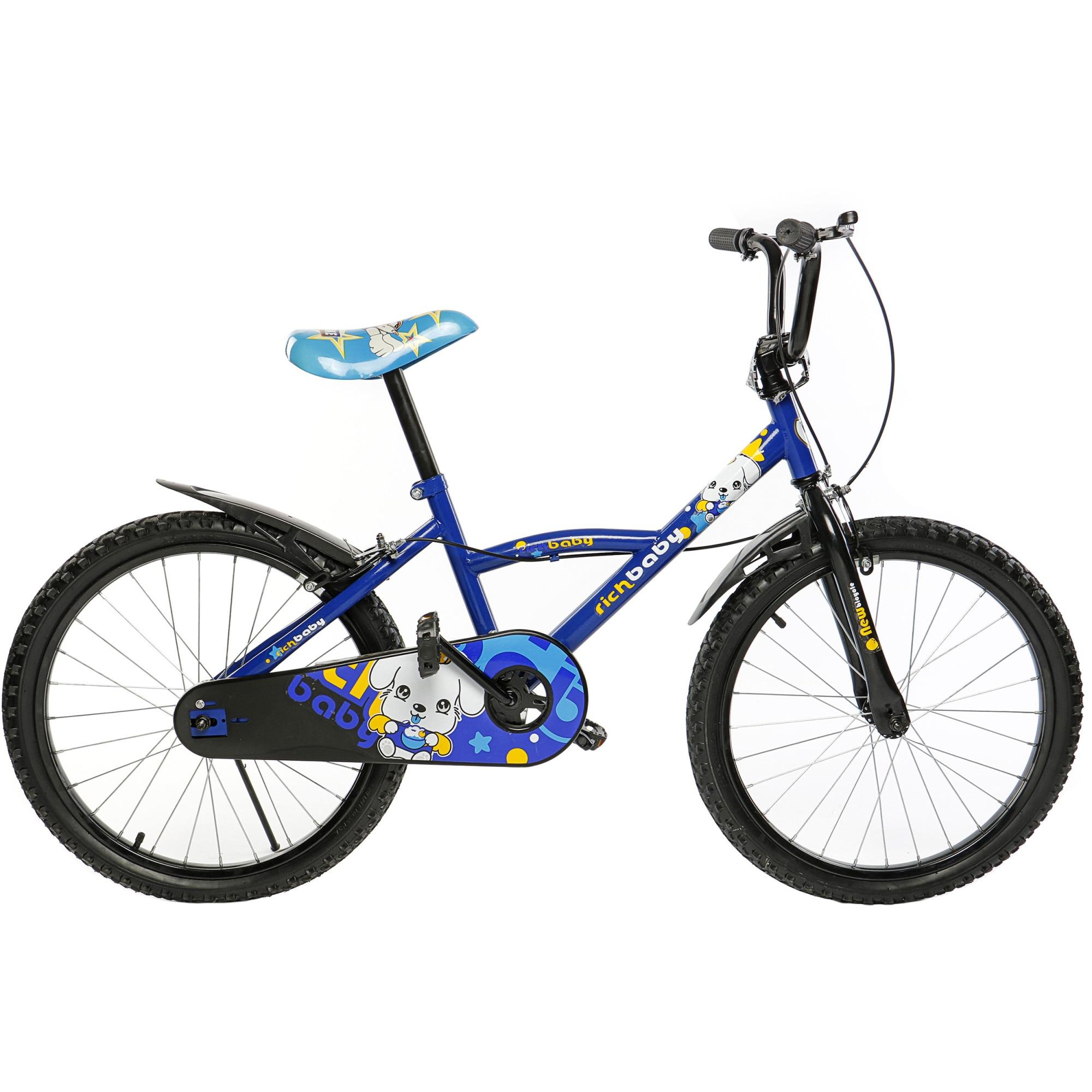 """Fotografie Bicicleta 20"""" Rich D2001A, pentru copii, Albastru"""