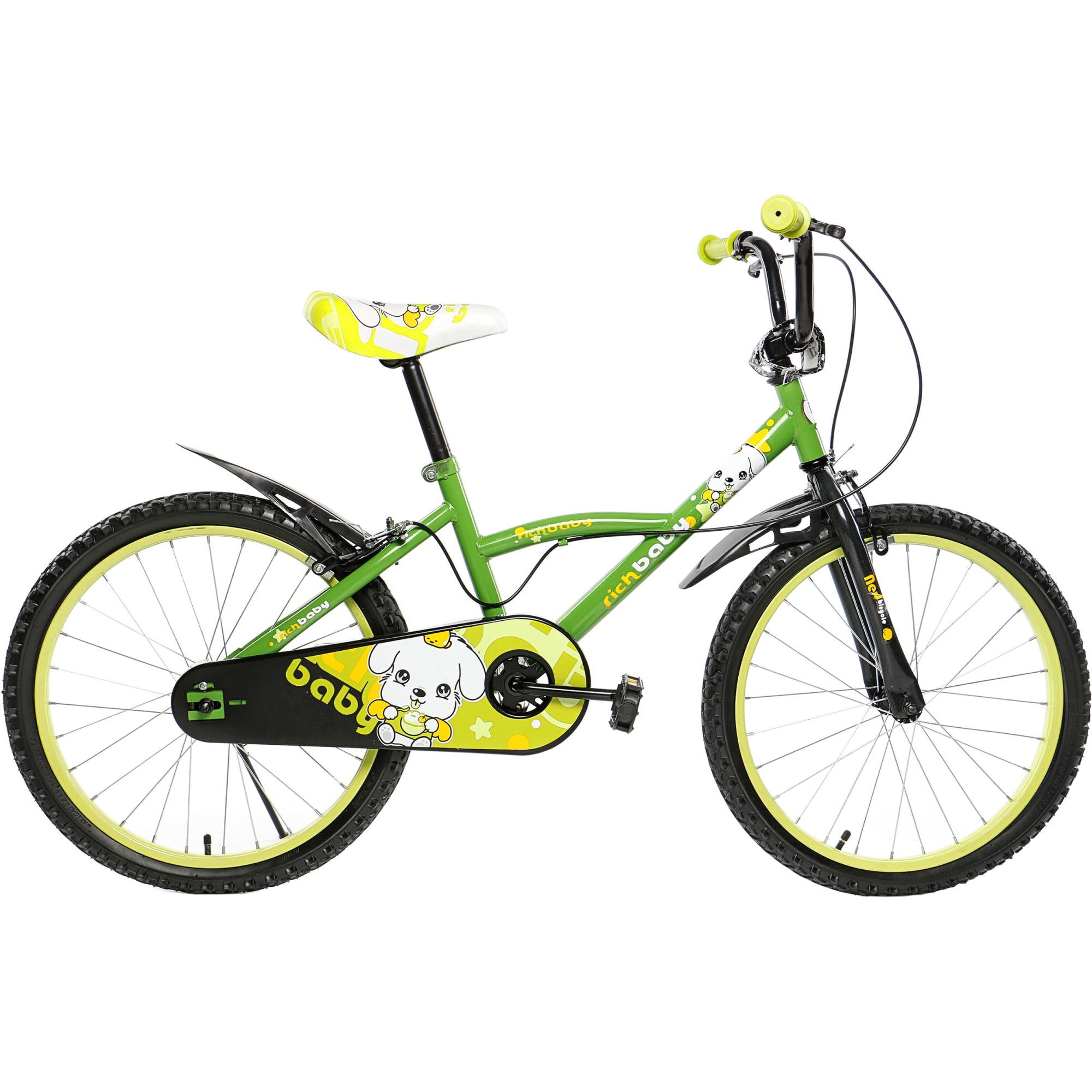 """Fotografie Bicicleta 20"""" Rich D2001A, pentru copii, verde"""