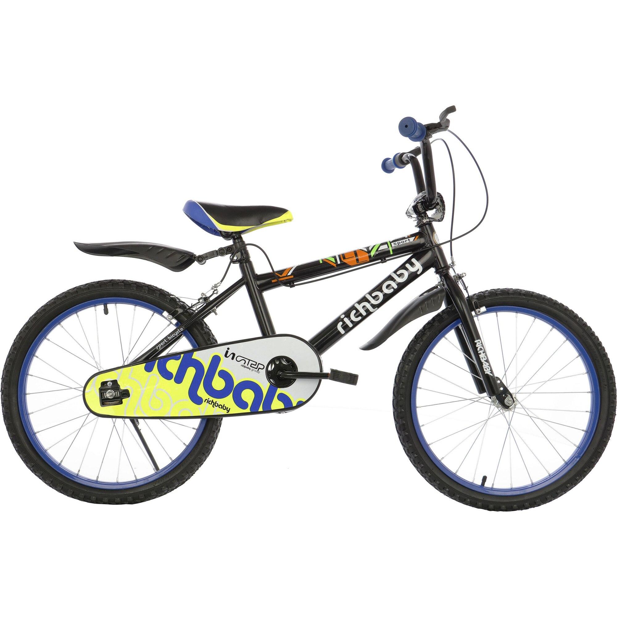 """Fotografie Bicicleta 20"""" Rich D2001A, pentru copii, Negru"""