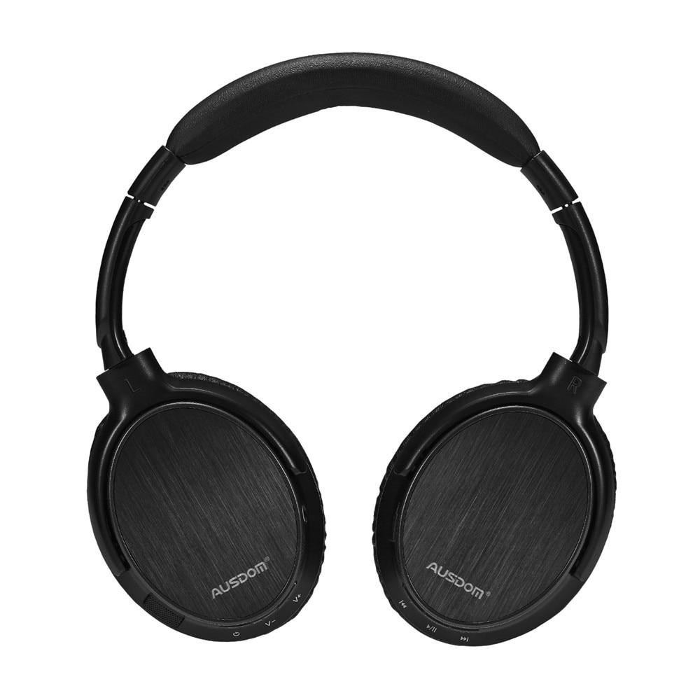 Fotografie Casti audio AUSDOM M06, Bluetooth 4.0+EDR, deep-bass, over-ear, timp de redare pana la 20 ore, Negru
