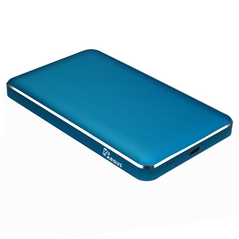 "Fotografie Rack Inter-Tech Veloce GD-25609 USB 3.0 Blue, compatibil cu HDD 2.5"" SATA"