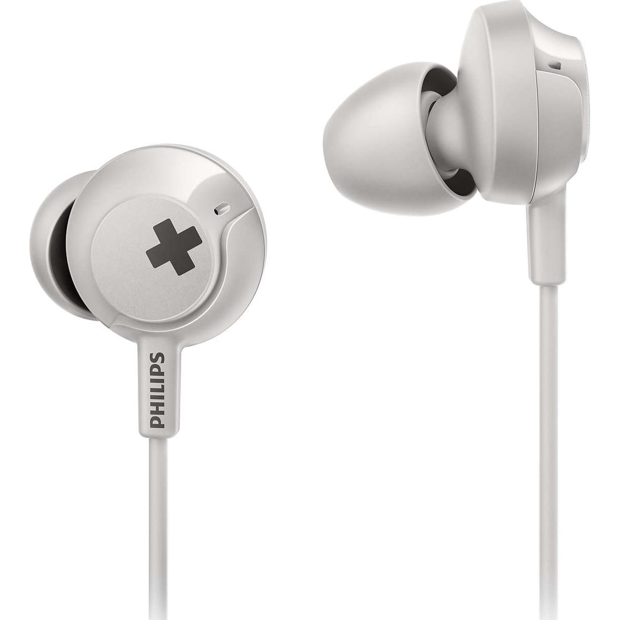 Fotografie Casti Audio In-Ear Philips, SHE4305WT/00, cu fir, Microfon, Alb
