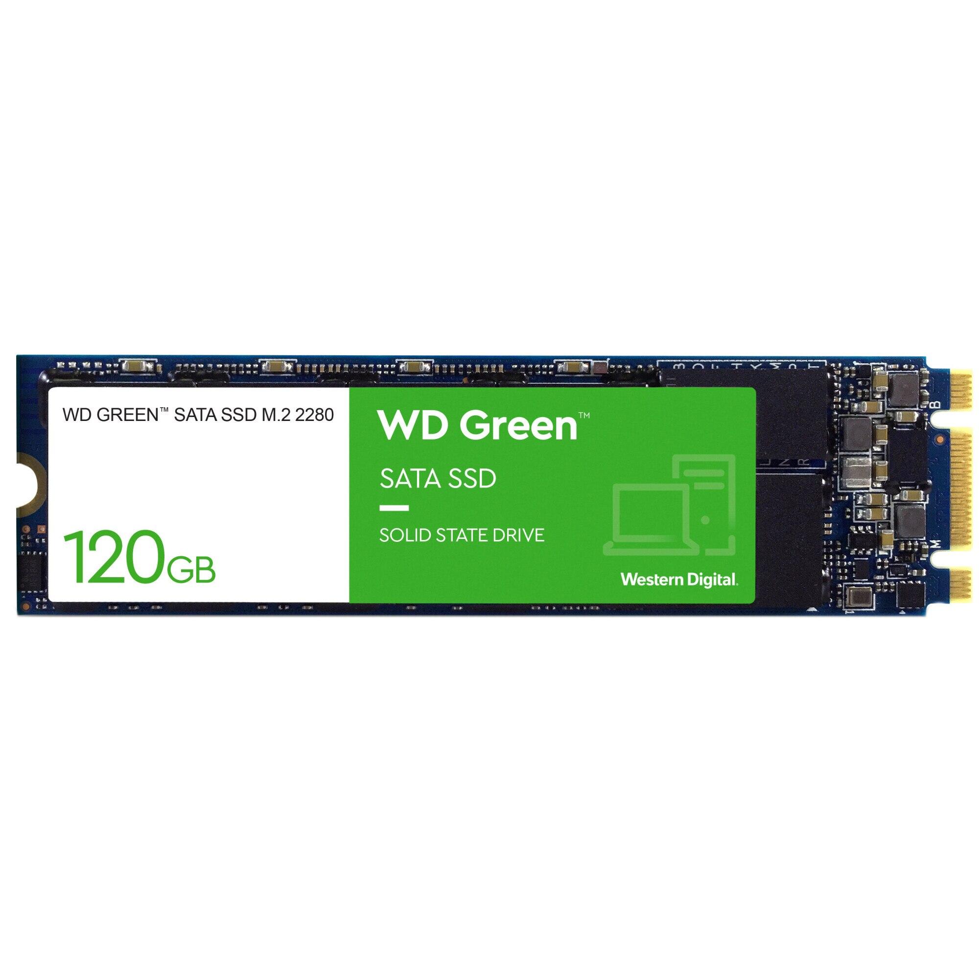 Fotografie Solid-state drive (SSD) WD, 120GB, Green, SATA3, M.2 2280