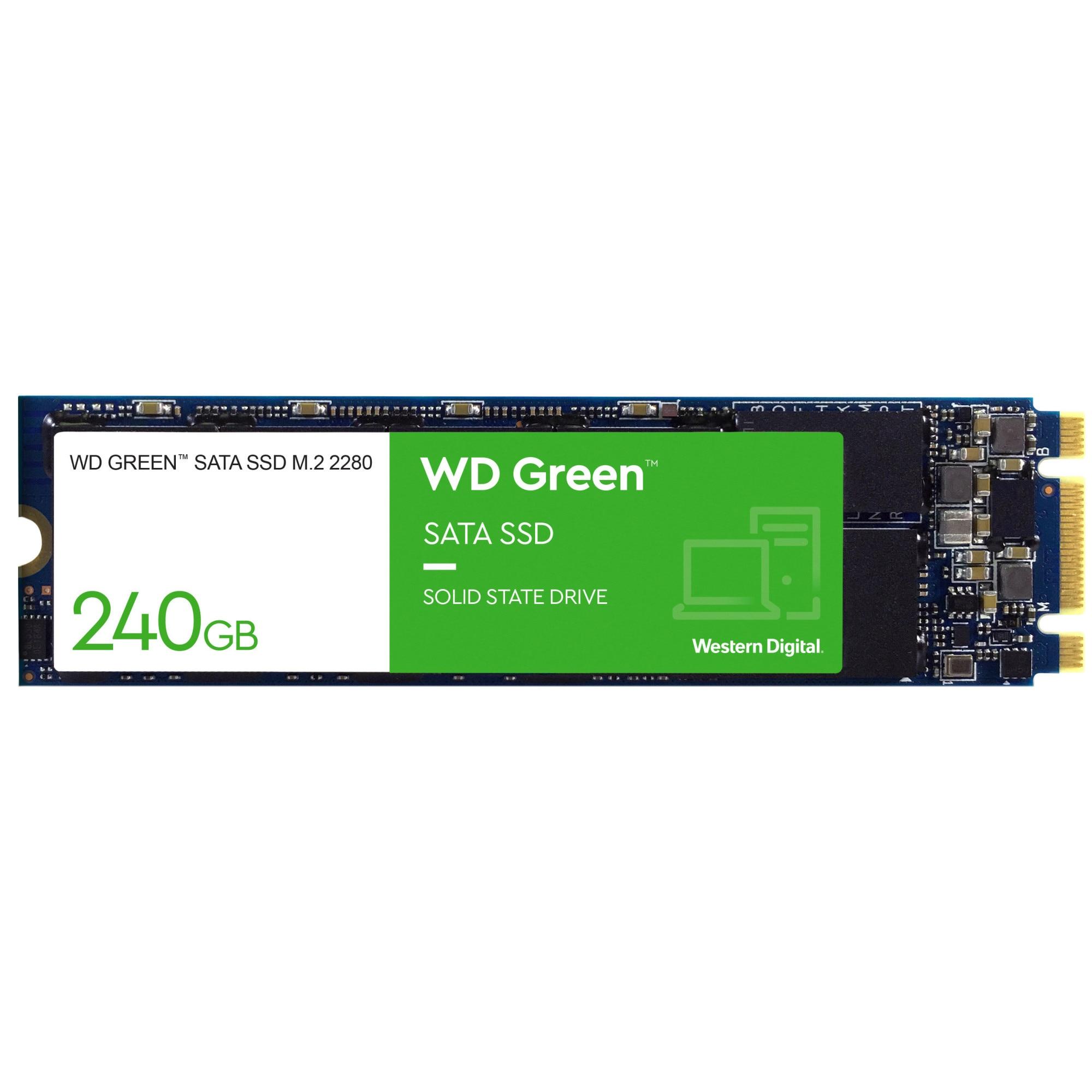 Fotografie Solid-state drive (SSD) WD, 240GB, Green, SATA3, M.2 2280