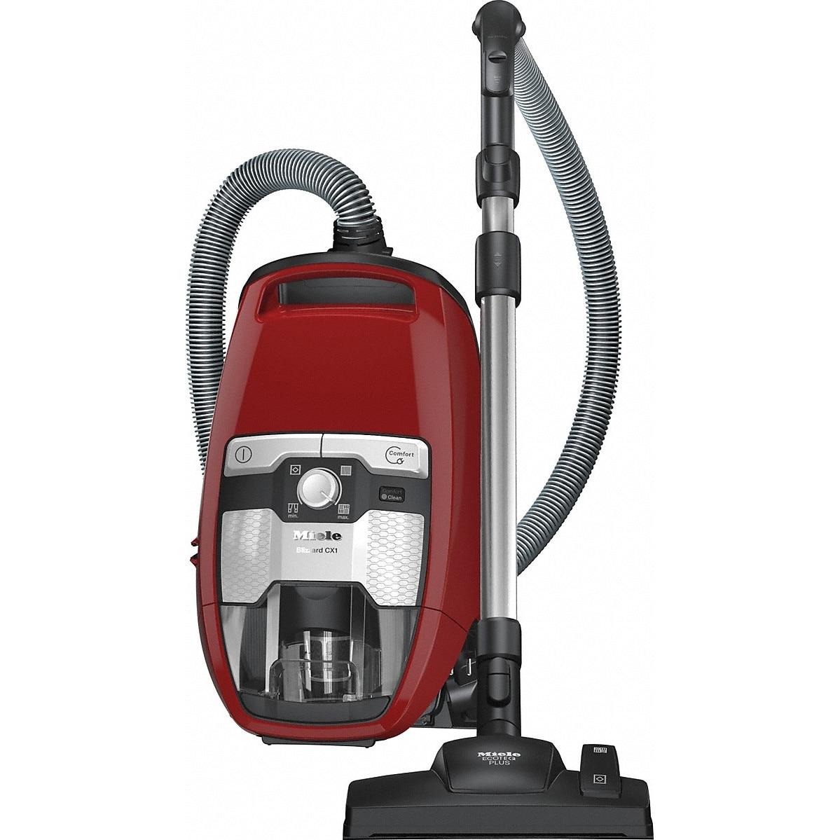 Fotografie Aspirator fara sac Miele Blizzard CX1 Red PowerLine SKRF3, 890 W, Perie universala, 77 dB, 2 L, Rosu