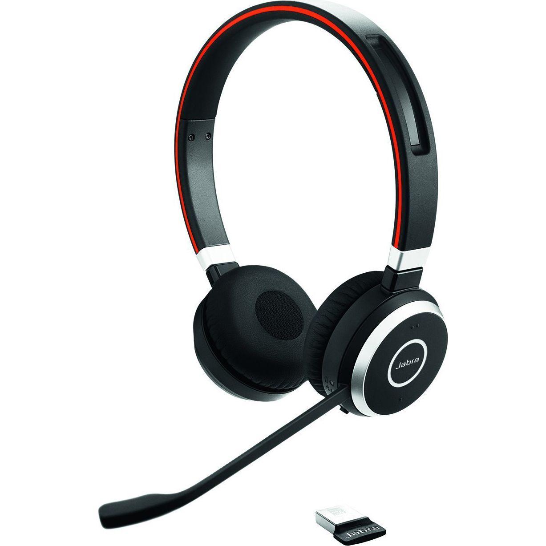 Fotografie Casti cu microfon PC Jabra Evolve 65 MS Stereo, Certificate Microsoft, Bluetooth, Adaptor USB