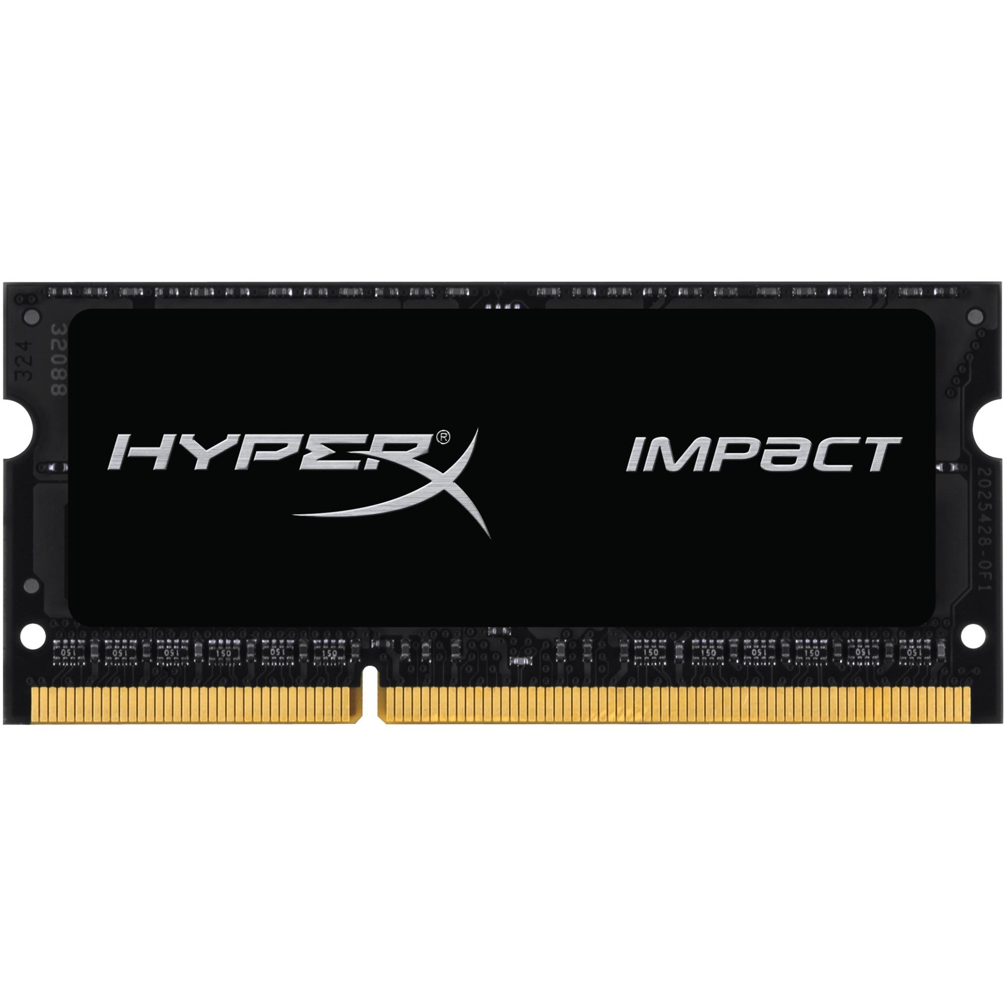 Fotografie Memorie Kingston HyperX Impact 8GB SODIMM, DDR3, 1600MHz, CL9, 1.35V