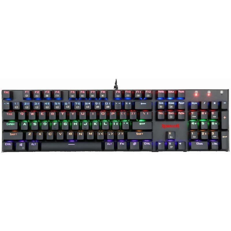 Fotografie Tastatura gaming mecanica Redragon Rudra Rainbow LED, Negru