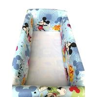 Maxi babaágy oldalvédő rögzíthető szett 120x60 cm Deseda Mickey Mouse