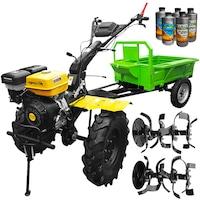 Pachet motocultor AgroPro Progarden HS 1100D motor 16 CP, 2+1 viteze de mers, senzor de ulei, pornire rapida, freze, remorca + Cadou 2l Ulei motor + 3l ulei transmisie AgroPro