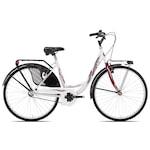 "Bottari Good Bike Siviglia 26"" városi női kerékpár, 48 cm, Fehér / Piros"
