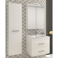 Kring Fly Fürdőszoba szekrény, 1 jobbra nyíló ajtó, Függesztett, Soft zsanérok, 31.5x138x33.5cm, Fehér