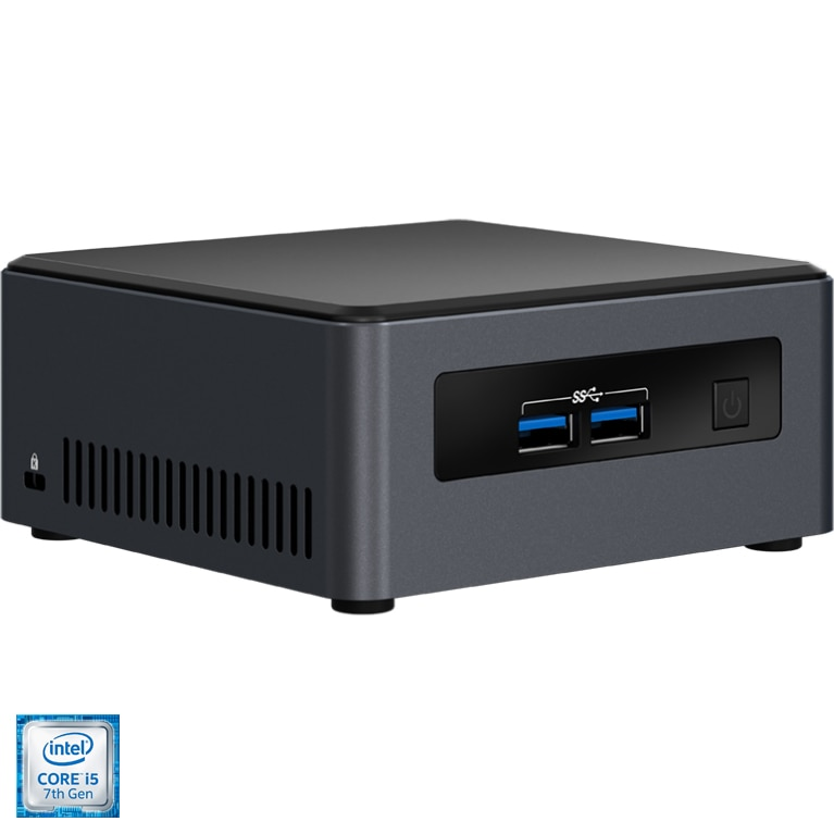 Fotografie Mini PC Intel NUC Dawson Canyon vPRO cu procesor Intel® Core™ i5-7300U 2.60 GHz, Kaby Lake, DDR4-2133, Intel HD Graphics 620, HDMI, BOX