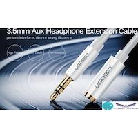 HIFI - AUDIO KÁBEL - 3,5 audio kábel 50cm , M/FM fejhallgató hosszabbító -fehér