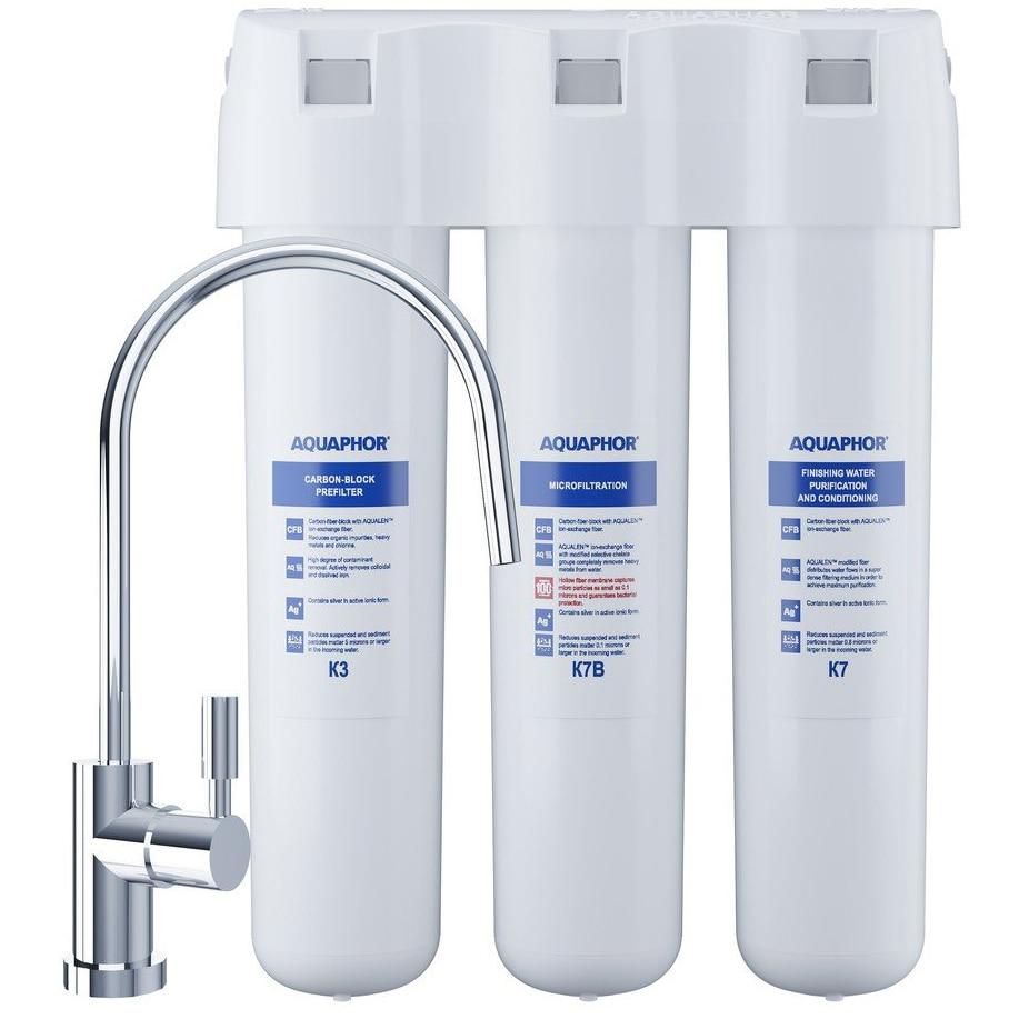 Fotografie Filtru de apa potabila Aquaphor Crystal Eco (K3/K7B/K7), montare sub chiuveta, 2.5 l/min