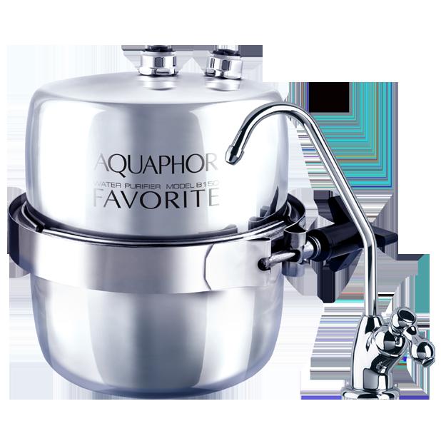 Fotografie Filtru de apa potabila Aquaphor Favorit,montare sub chiuveta, 12000 litri, filtrare 2.5 litri/minut, carcasa inox