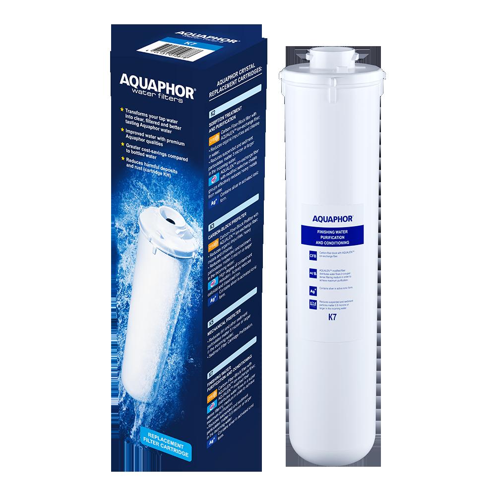 Fotografie Cartus Aquaphor K7 (K1-07), carbonblock cu argint, aqualen pentru filtru Crystal, Solo, Crystal Quadro, Morion Osmo-M-050